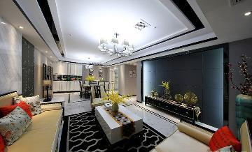 典雅清新 110平新中式线条3居室