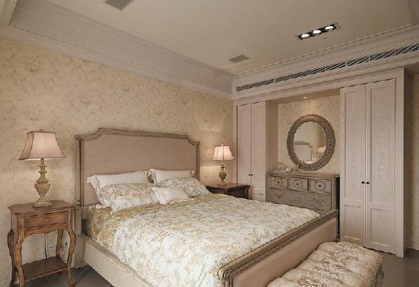 保利国际220平美式风格装修卧室