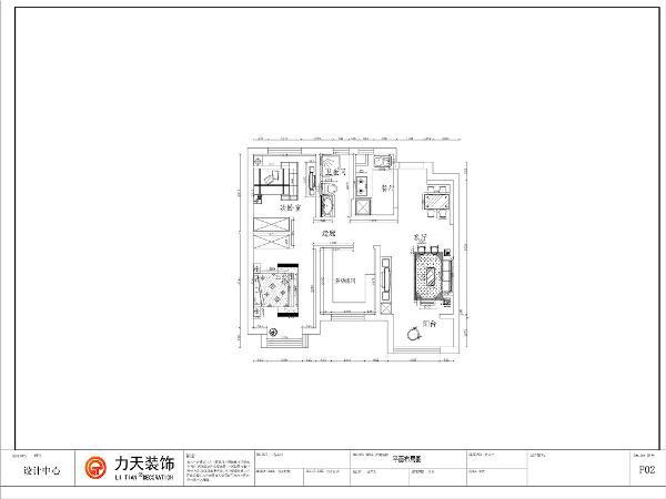 本次的设计风格是美式户型,3室2厅1厨1卫92.00㎡(建面)皓林园.