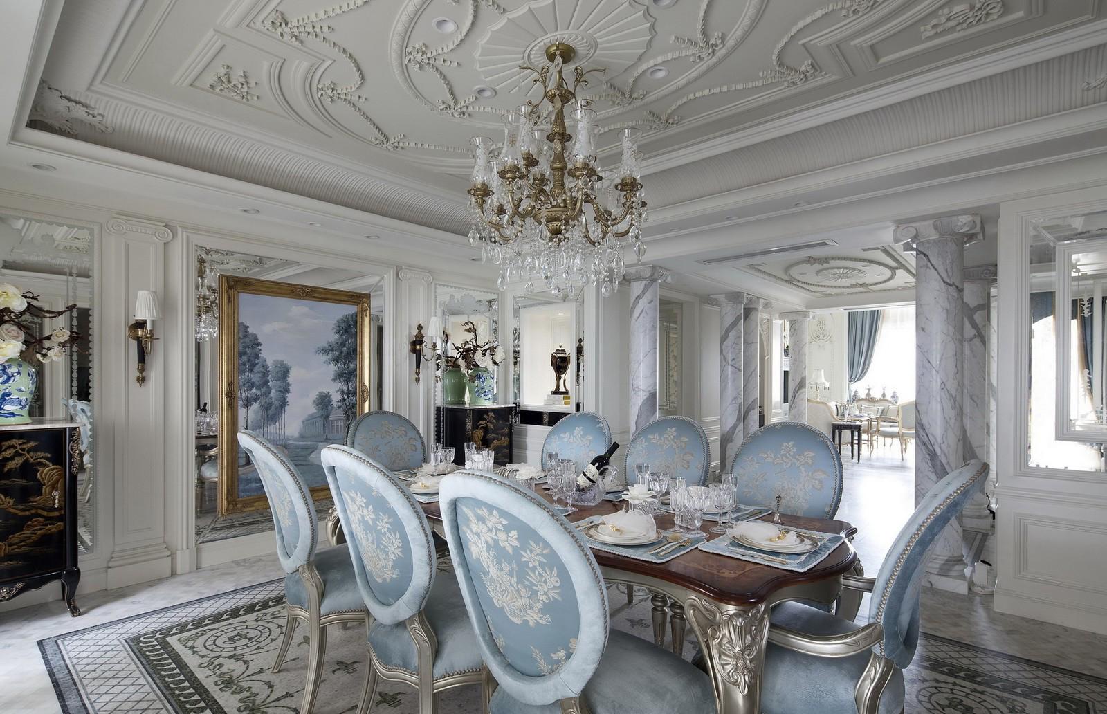 别墅装修 别墅设计 别墅效果图 法式风格 餐厅图片来自石家庄亿佰居装饰在法式别墅的浪漫与品味的分享