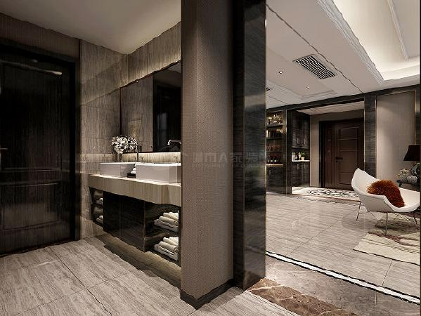 走廊:在装饰造型上进行了一些精致的设计,是空间上有更加丰富的层次感。