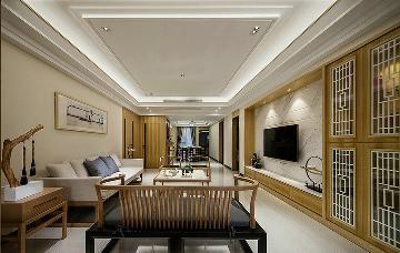 淡雅时尚 106平新中式舒适3居室