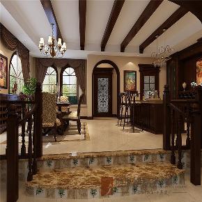 美式 别墅 高帅富 小资 白富美 餐厅图片来自高度国际姚吉智在600平米美式独栋别墅忠于品位的分享