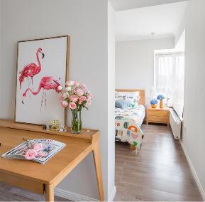 二居 北京 装修 北欧 宜家 公寓 卧室图片来自北京紫禁尚品装饰刘霞在120平北欧宜家风 简约而不简单的分享