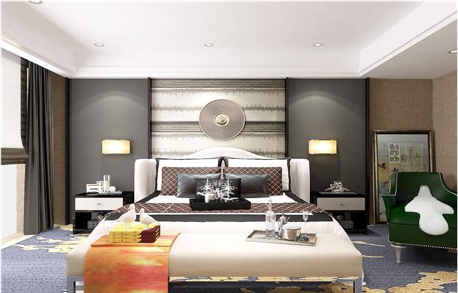 北京 公寓装修 新古典风格 毛坯 白领 卧室图片来自北京紫禁尚品装饰刘霞在福景苑 200平公寓样板房设计作品的分享