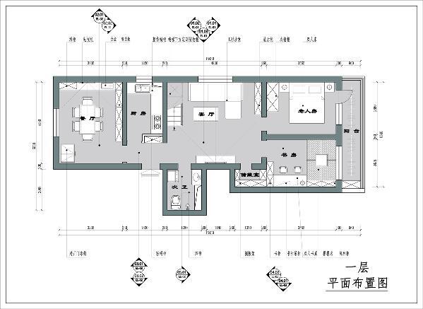 装饰设计上,以灰色为主色调,灰色的墙面、瓷砖配以白色的家具,金属玻璃灯具和楼梯点缀,整体基调充满现代感;