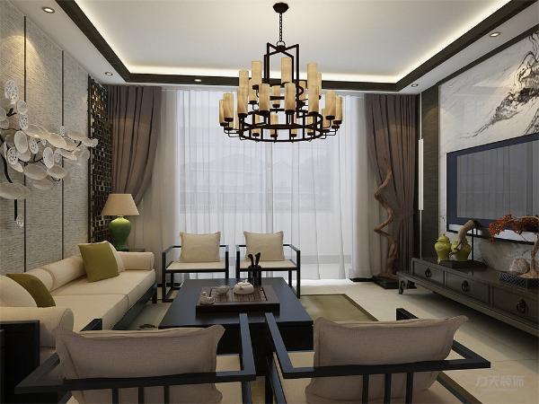 客厅与餐厅以沉稳的木色调为主,电视背景墙选用大面积的白色铺色不仅使人视线得到扩展、放松,更是体现了空间设计中的有限空间里制造纵深感的设计理念。材料运用黒木、米白色大理石,为房间气氛添姿。
