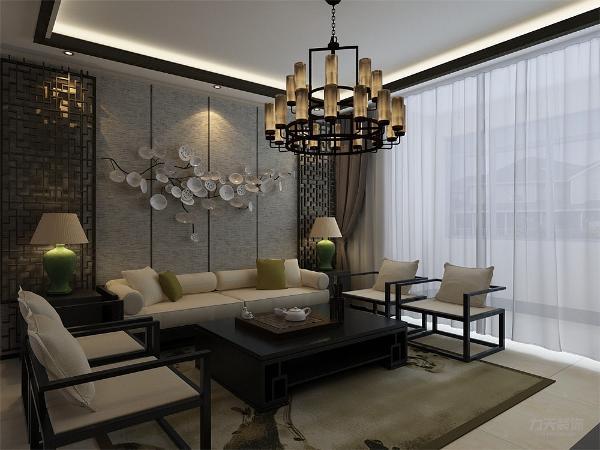 客厅与餐厅以沉稳的木色调为主,电视背景墙选用大面积的白色铺色不仅使人视线得到扩展、放松,更是体现了空间设计中的有限空间里制造纵深感的设计理念。