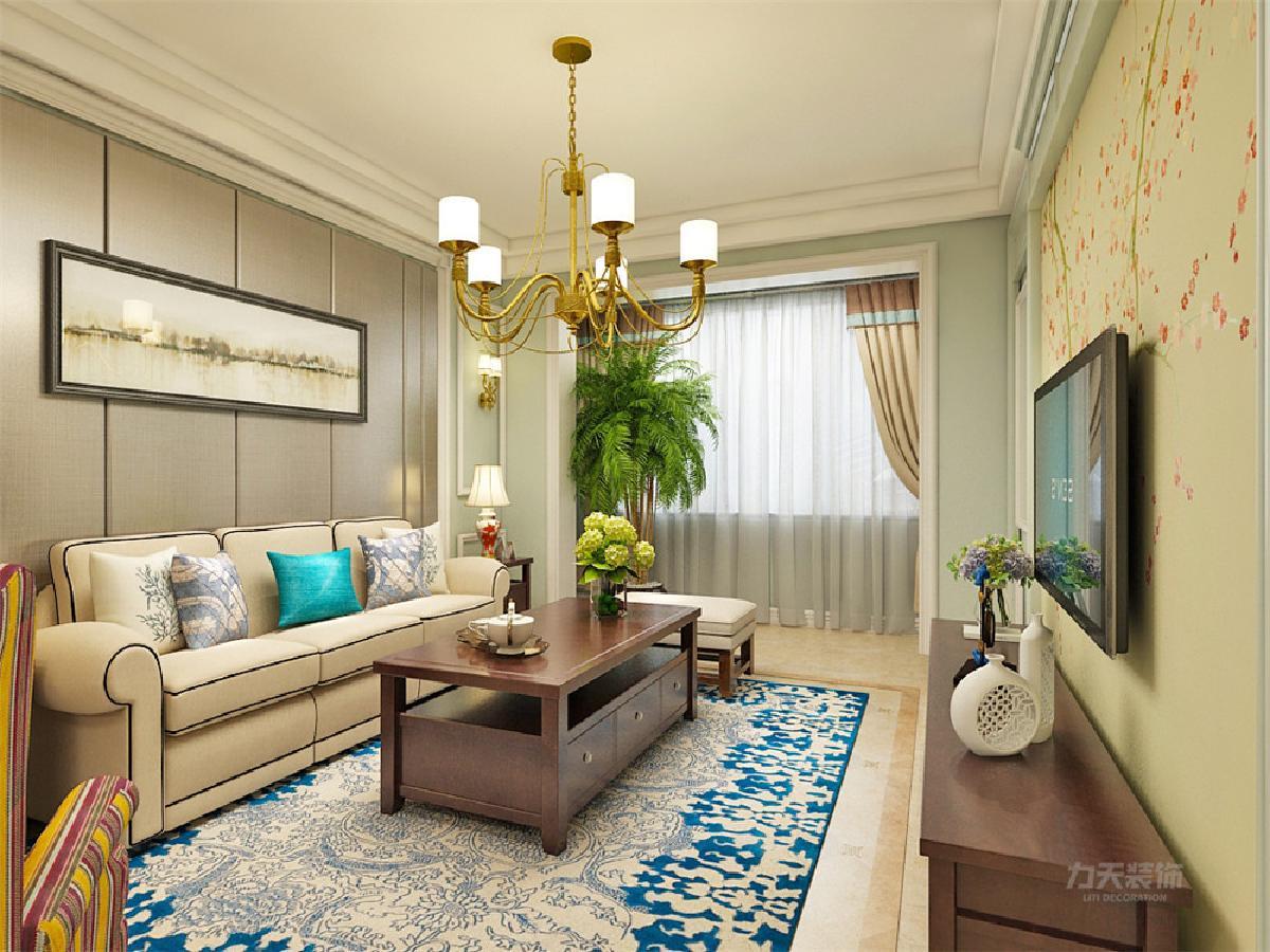 客厅沙发背景墙采用深色护墙板,突显高端,奢华,电视背景墙采用石膏线图片