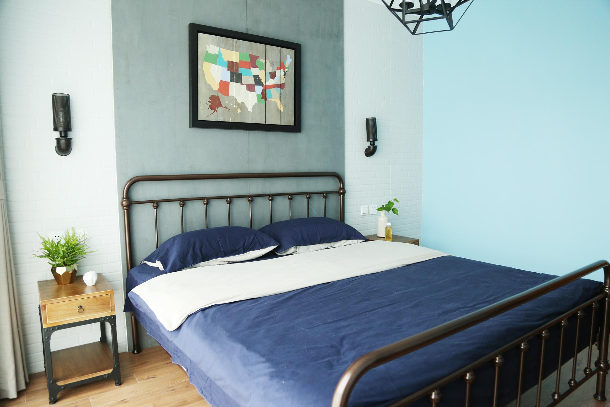 二居客厅卧室餐厅白领收纳旧房改造80后小资图片