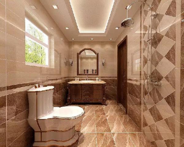 用了地砖上墙工艺,墙面使用了错色搭配和花砖的双重搭配手段,均衡的视觉设计反而更能给房主带来舒适感。