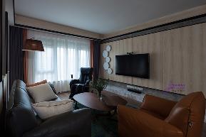 港式 新中产 客厅图片来自无锡吉友洪设计工作室在无锡吉友洪设计——静水深流的分享
