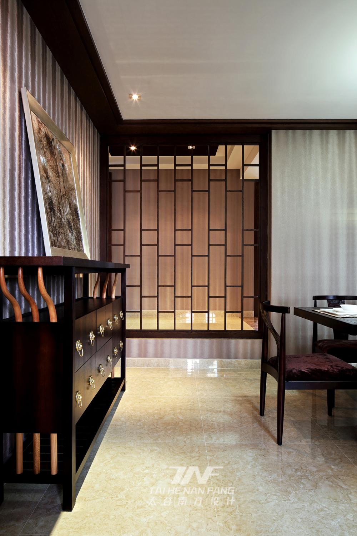 中式风格  三居 白领 餐厅图片来自王五平设计在深圳集信名城住宅的分享