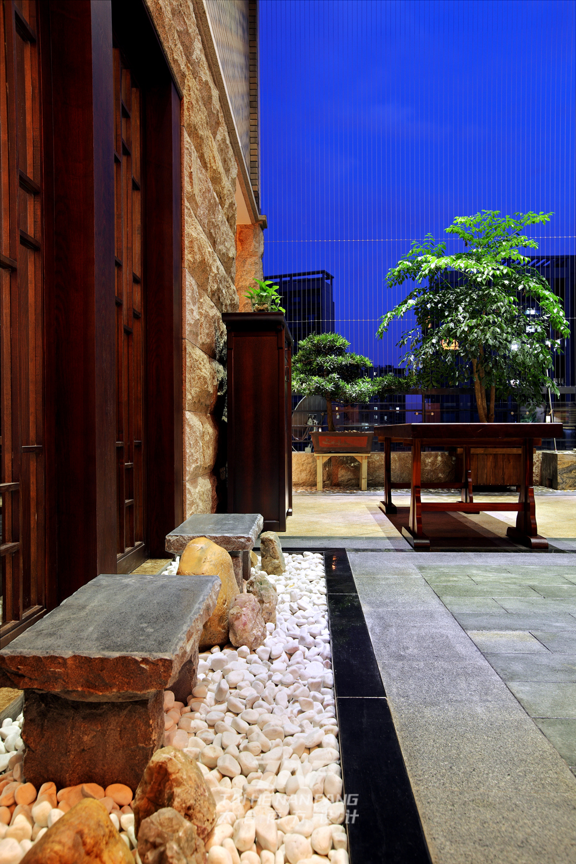 中式风格  三居 白领 阳台图片来自王五平设计在深圳集信名城住宅的分享