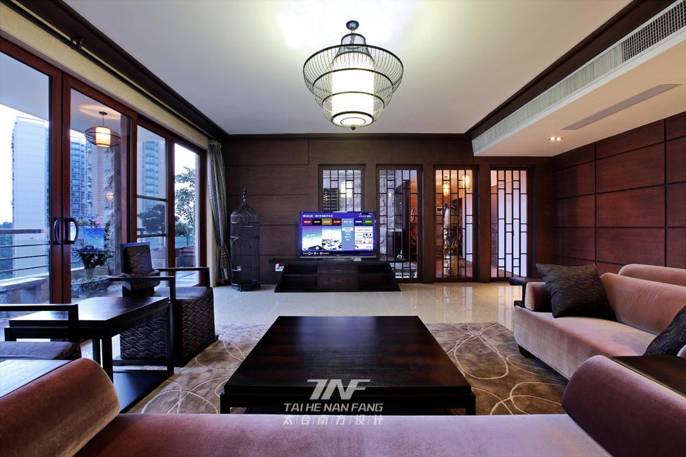 中式风格  三居 白领 客厅图片来自王五平设计在深圳集信名城住宅的分享