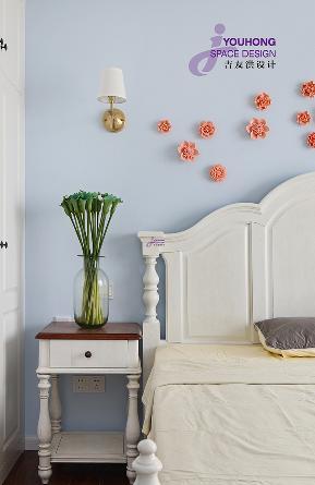小资 90后 简美 美式 小清新 卧室图片来自无锡吉友洪设计工作室在梦想家的分享