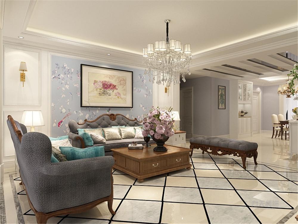 皓日园 三居 美式风格 客厅图片来自阳光放扉er在力天装饰-皓日园130.图片