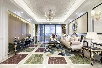 长安王府毛坯别墅欧式风格设计