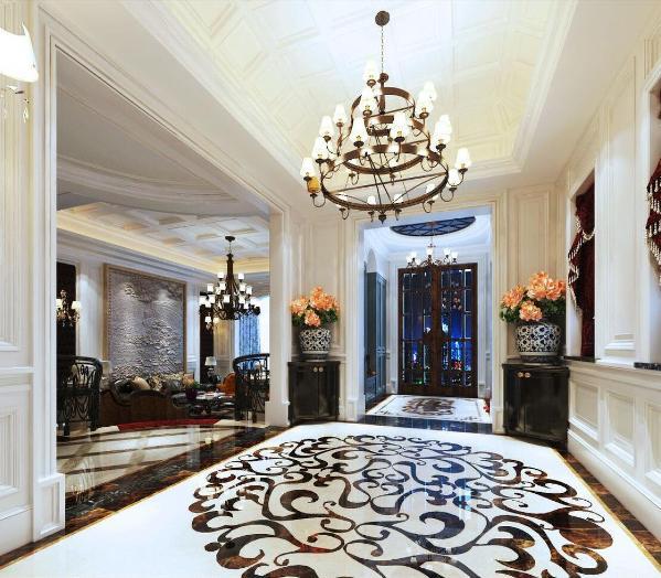 别墅装修欧式风格设计,上海腾龙别墅设计最新作品,欢迎品鉴!
