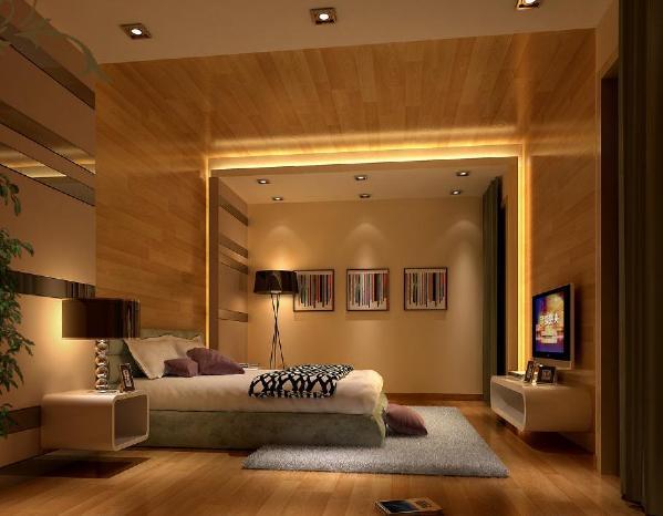 """本案多处运用实木地板""""上墙""""、""""上天花"""",除了打破常规材料的传统运用手法外,还增加了整个空间的视觉冲击感;地面则大面积使用哑光防皮纹瓷砖,并在墙面配合以深色镜钢等元素。"""