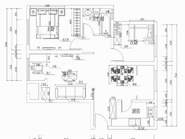 该户户型是北宁湾四期高层标准层两室户型图 2室2厅1卫1厨96.00,这是一套较高的户型,一进门右手边便是厨房,由于户型较小,所以户型的客厅和餐厅是在一起的。