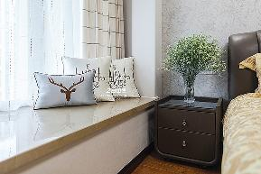 简约 三居 白领 收纳 80后 小资 中式 文艺青年 舒适 卧室图片来自中博装饰在龙湖明景台新中式知性居家的分享