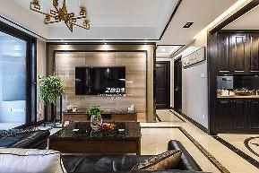 简约 三居 白领 收纳 80后 小资 中式 文艺青年 舒适 客厅图片来自中博装饰在龙湖明景台新中式知性居家的分享