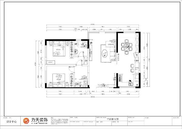 此户型为天津亿城堂庭两室两厅一厨两卫,建筑面积120.90㎡。进入入户门是玄关区域,右手边是厨房和餐厅区域,入户门直对着客厅,在餐厅的背后。