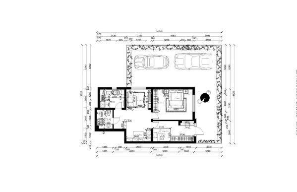 此户型的设计对于房体结构来说是很合理的。首先客厅的采光很好,空间整体比较通透明亮。 而餐厅到厨房的距离不是很近,但考虑到保留原建结构,并没有做任何改动。卧室的位置应该是比较私密的。