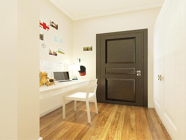 玄关有写字台的设置。增添玄关的功能性