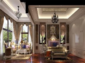 美式 别墅 高帅富 未来家 白富美 卧室图片来自高度国际姚吉智在892平米美式独栋别墅至尊新贵的分享