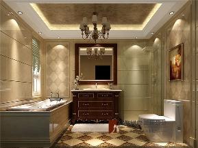 美式 别墅 高帅富 未来家 白富美 卫生间图片来自高度国际姚吉智在892平米美式独栋别墅至尊新贵的分享