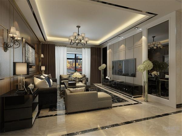 客厅是主人招待客人的地方,同时也是彰显主人品味的地方,因此,客厅是设计的重点,太繁杂色颜色不仅不会增加美感,反而会使空间看起来琐碎凌乱,所以在家具的选择上比较注重造型美,颜色选择上则与客厅主颜色搭配。