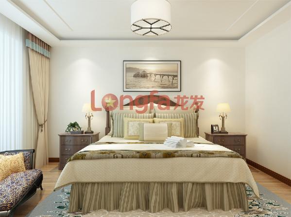 亮丽家园150平米 卧室 美式乡村风格装修效果图