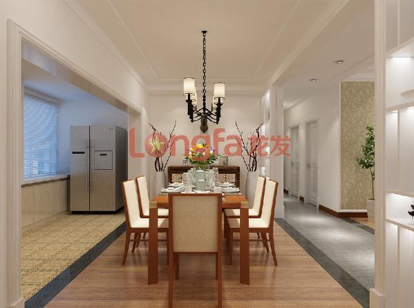 亮丽家园150平米 餐厅 美式乡村风格装修效果图