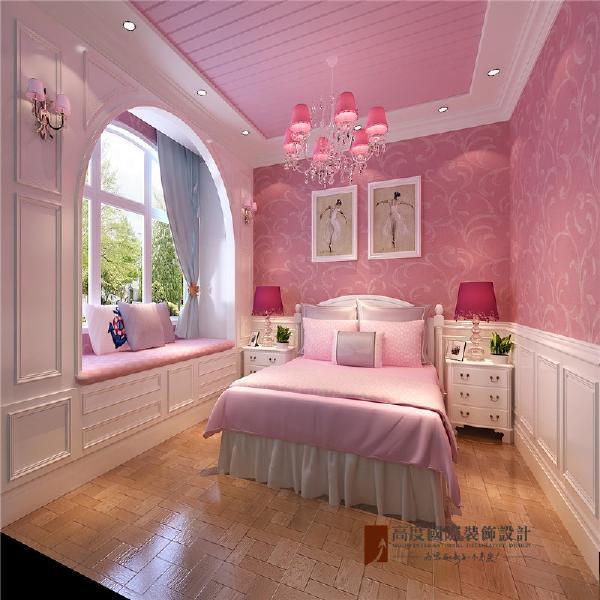 女孩房:粉色,满足了孩子的一颗少女心。