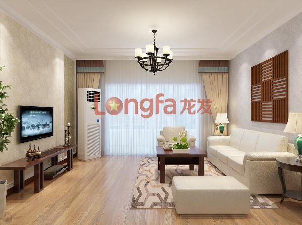亮丽家园150平米 客厅 美式乡村风格装修效果图