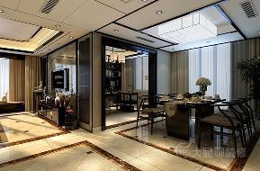 餐厅 餐厅图片来自西安峰光无限装饰大鹏在龙湖香醍国际社区298平米新中式的分享