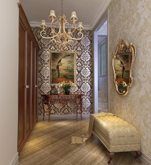 从踏入门厅的第一步便能深刻感受到,特别是温暖灯光映照在无与伦比的迎宾画上,更能烘托出家绝美的气质。