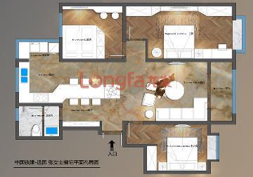 中国铁建逸园122平现代简约