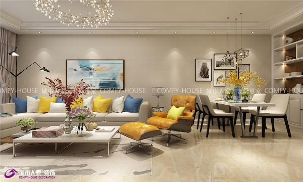 名辉豪庭装修客厅效果图现代风格