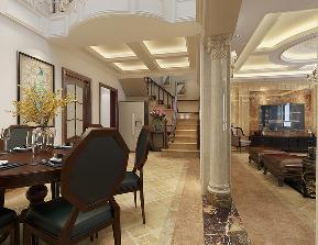 别墅 欧式 餐厅图片来自轻舟装饰-90后的华仔在翡丽庄园-380平米-欧式风格的分享