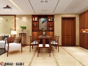 三居 扬州装修 130平米 效果图 餐厅图片来自思雨易居设计在《古韵风雅》扬州130平新中式3居的分享