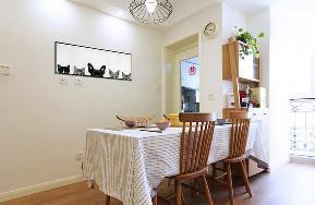 餐厅图片来自家装大管家在78平北欧清新蜗居 简约自然舒服的分享