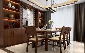 新中式 简约 餐厅图片来自盛星装饰小傅在龙墅湾的分享
