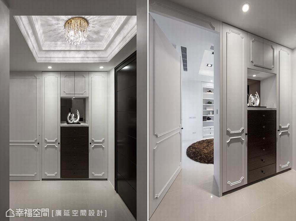 四居 新古典 别墅 玄关图片来自幸福空间在二次换屋不蜗居 132平新古典宅的分享