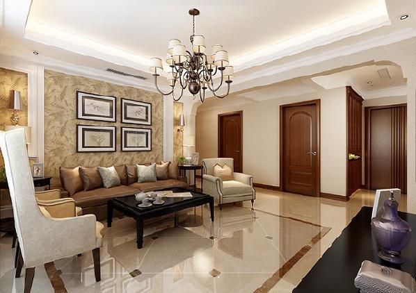 色调的搭配和简单的装饰让空间更为温馨自然,美式的元素装饰空间华丽非凡,温馨、自然、华贵、大气是本案的主题。