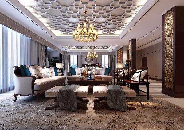 别墅装修新古典美式风格设计,上海腾龙别墅设计朱旻玉作品!