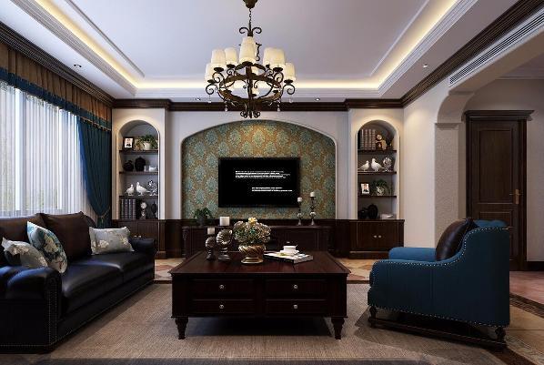 保利御樽苑别墅装修美式风格设计方案,上海腾龙别墅设计!