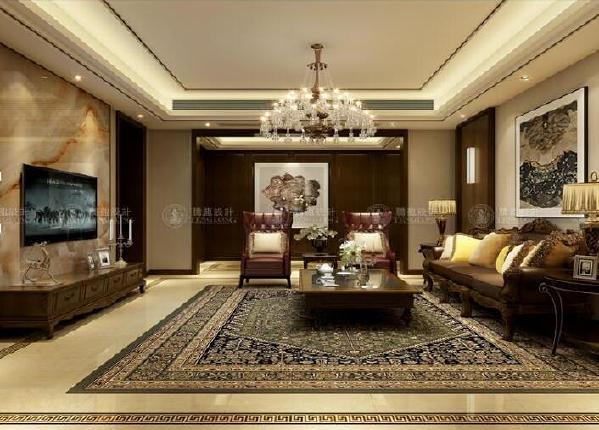 美兰湖中华园大平层装修设计方案展示,上海腾龙别墅设计孔继民作品!
